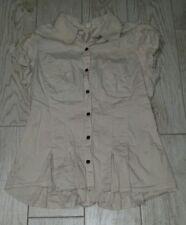 Sugar Tart Button Down Shirt size large L - khaki/beige