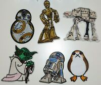 Star Wars Popular Characters Patch Set Of 6 Iron/Sew On Embroidered PATCHES