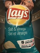 Canadian Favour Salt & Vinegar Chips Lays 180g. Only Found In Canada