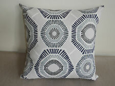 Blue Gray White Geometric Home Decorator Stylist Cushion Cover 45cm AU MADE