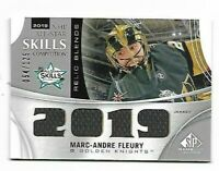 MARC-ANDRE FLEURY 19-20 SP GAME USED ALL STAR SKILLS RELIC BLENDS JERSEY 054/125