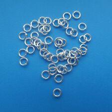 100 x 4mm ouvert plaqué argent anneaux pliés