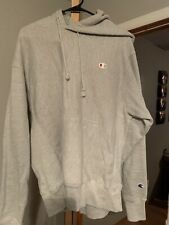 Champion Reverse Weave Gray Pullover Hoodie Men's Size Large