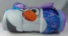 "New Disney Frozen Elsa Anna Olaf Sleeping Bag Comfortable Sleepover Fun 66 x 30"""