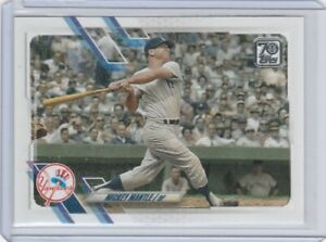 MICKEY MANTLE 2021 Topps Series 2 Photo Variation SP New York Yankees