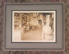 1900's MOUNTED PHOTO INTERIOR GENERAL STORE OFFICE FRIGIDAIRE GENERAL ELECTRIC