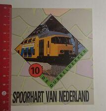 Aufkleber/Sticker: Spoorhart van Nederland de Dubbeldekker 10 (16011796)