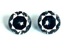 4.80 Ct Color Changing Alexandrite Gemstone Pair 2 Pcs Round Cut AGSL Certified