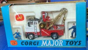 "Very Rare 1967 Corgi Major Toys #1142 Ford ""Holmes Wrecker"" Gold Boom NIB"