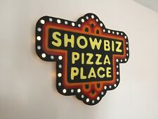Showbiz Pizza Place LARGE Flashing LED sign 7 functions man cave Chuck E Cheese
