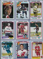 Vintage NHL Rookie Lot (9) Different Yzerman Bossy Gartner Shanahan NMINT BV$165
