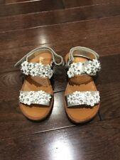 Girl's Naturino Silver Sandals, Size 28 (11M) - Good Condition