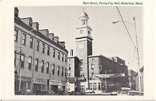 Main Street Facing City Hall in Biddeford ME Postcard