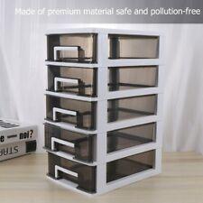 Multi Layer Storage Drawer Plastic Cabinet Organizer Storage Box Home Decor US