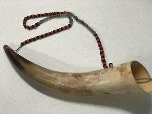 Blow Horn Hand Made Reenactment, Colonial, Mountain Man FcF