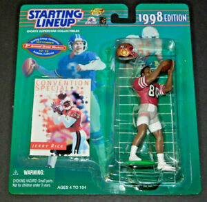 RARE 1998 JERRY RICE CONVENTION VARIATION STARTING LINEUP INVESTMENT GRADE 49ERS