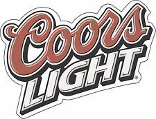 "Coors Light  Alcohol Sticker - wall, window, vinyl sticker 5""x3.8"""