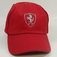 Scuderia Ferrari Red Hat Cap New Without Tags Silver Raised Emblem Adjustable