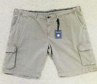 Mens 48B Thaddeus Cargo Shorts Kingston Walnut Brown Cotton New