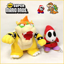 2X Super Mario Bros. Plush Bowser Shy Guy Soft Toy Stuffed Animal Cuddly 10""