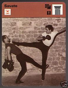 SAVATE French Kickboxing Kick Boxing Style Sport 1977 SPORTSCASTER CARD 03-04B