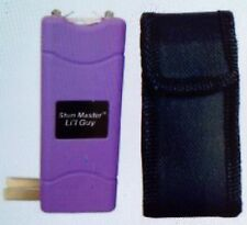 12 Million Volt Rechargeable Mini Keychain Stun Gun PURPLE + free tazer HOLSTER