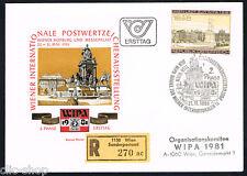AUSTRIA 1 BUSTA PRIMO GIORNO FDC WIPA 1980