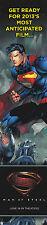 SUPERMAN MAN OF STEEL FILM DC COMICS RETAILERS PROMOTIONAL BOOKMARK