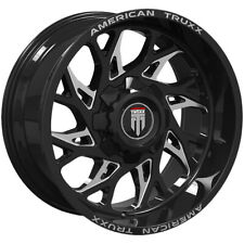 4 American Truxx Destiny 20x9 8x65 0mm Blackmilled Wheels Rims 20 Inch Fits More Than One Vehicle