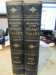 Memoirs of the Miami Valley Ohio History Books Set Troy Bellefontaine Sidney Old