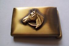 Solid Brass  Small Belt Buckle Antique Finish - HORSE HEAD  ANIMAL design