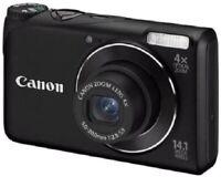 Canon PowerShot A2200 Fotocamera Digitale, 14.1 MP, Nero