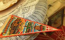 """Mid century 1960's Pennant flag silk like Oslo Nice condition 11x 51/2"""""""