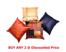 Genuine Cowhide Leather Cushion Cover Pillow Case Home Décor 45*45cm (BUY ANY 2)