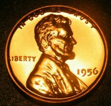 1956 Gem Proof Lincoln Wheat Back Penny US Coin Cents