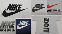 New Nike Mens Just Do It Logo Graphic Crewneck Regular Fit Tee T-Shirt S M L XL