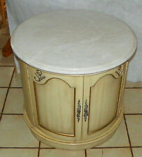 Mid Century Round Marble Top End Table / Side Table by Weiman  (RP-T633)