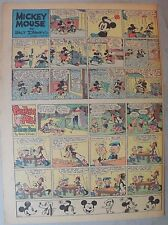 Mickey Mouse Sunday Page by Walt Disney from 5/29/1938 Tabloid Page Size