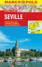 SEVILLE CITY MAP - NEW - MARCO POLO - LAMINATED - POCKET - WATERPROOF