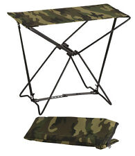 Woodland Camo Lightweight Portable Chair Folding Camp Stool Camping Rothco 4575