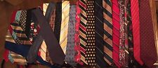 Men's Necktie Lot Vintage And Current Styles 30+ Includes Name Brands