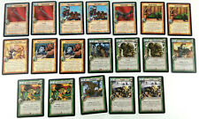 Warlord Saga of the Storm CCG JCC English Lot de 19 cartes