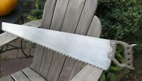 ANTIQUE HEAVY TIMBER SAW - FINE READY TO USE