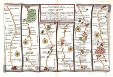 Antique map, The Road from the City of Salisbury to Campden plate 085