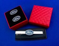 Ford tie clip & Cufflinks Ford Gift Idea Tie Bar & Cuff Links Gift Set (New)