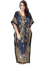 Paisley Floral Kaftan Midi Dress Gown Women's Long Maxi Caftan 16 18 20 22 24 26
