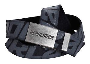Blaklader Canvas Work  Belt with Logo on Silver Buckle - 4033