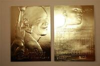 MICHAEL JORDAN 1996-97 Fleer FLAIR SHOWCASE 23KT Gold Card Sculptured NM-MT
