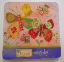 Heartstrings Laugh Every Day Magnet Kitchen Refrigerator Magnet Butterfly