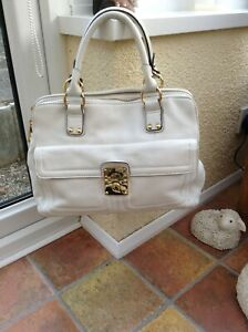 episode white leather handbag